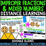Improper Fractions and Mixed Numbers Distance Learning