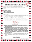 Improper Fractions and Mixed Numbers Game: Improper Cards