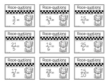 Improper Fractions and Mixed Numbers - Mixed Race-quation