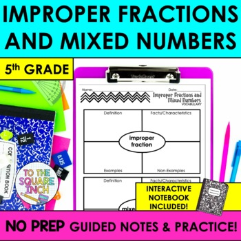 Improper Fractions and Mixed Numbers Notes