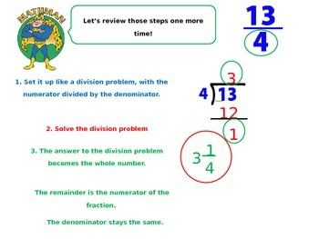 Improper Fractions and Mixed Numbers Powerpoint