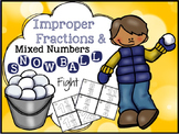 "Improper Fractions and Mixed Numbers ""Fraction Game"""