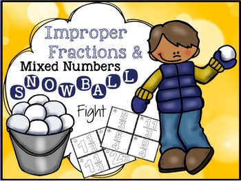 """Improper Fractions and Mixed Numbers """"Fraction Game"""""""