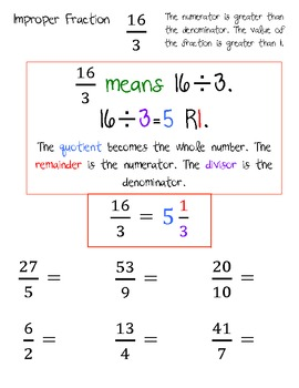 Improper fractions and renaming mixed numbers worksheets by taylor improper fractions and renaming mixed numbers worksheets ibookread Read Online