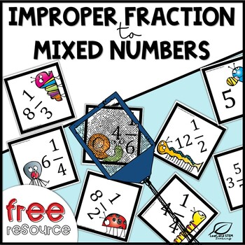 Improper Fractions to Mixed Number {Spring Freebie}