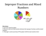 Improper Fractions to Mixed Numbers Game