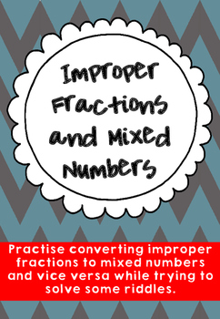 Improper Fractions to Mixed Numbers with Riddles
