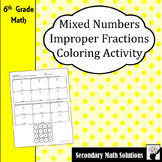 Improper Fractions to/from Mixed Numbers Coloring Activity