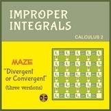 "Improper Integrals - Maze ""Divergent or Convergent"" - Distance Learning"