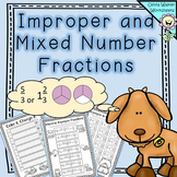 Improper and Mixed Number Fractions - Converting Mixed Numbers - Worksheets