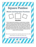 Improper and Mixed Fractions: Square Puzzles
