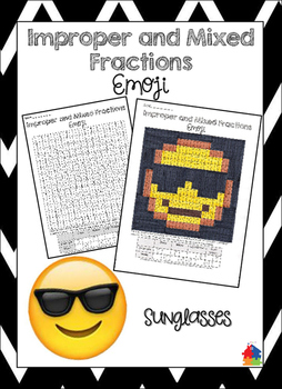 Improper and Mixed Fractions Sunglasses Emoji