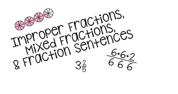 Improper and Mixed Fractions Task Cards and Review