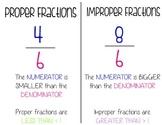 Improper and Proper Fractions Visual