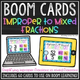 Improper to Mixed Fraction BOOM Cards™