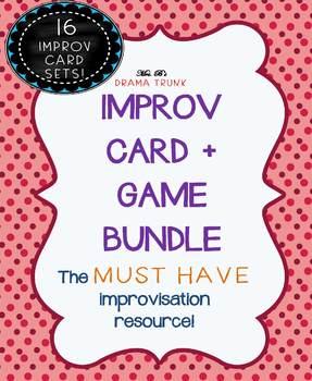 Improv Cards and Improvisation Games : BUNDLED 16 SETS