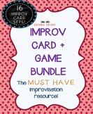 IMPROV GAMES with IMPROV PROMPT CARDS BUNDLE (16 sets! Hea