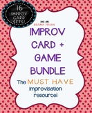 IMPROV GAMES with IMPROV PROMPT CARDS BUNDLE (16 sets! Hea