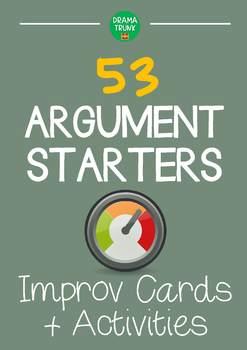 Improv Games with ARGUMENT STARTERS improvisation cards