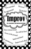 Improv Poster (Black and White)