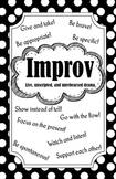Improv Poster (Black and White)
