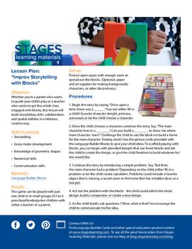 Improv Storytelling with Blocks Lesson Plan
