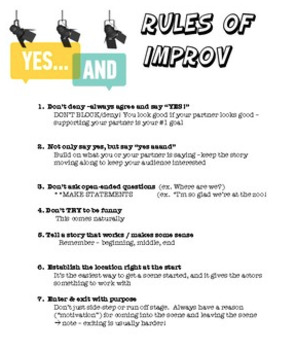 Drama - Improv handout - what is improv?