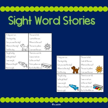 Improve Fluency with Sight Word Stories !