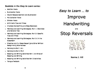 Improve Handwriting & Stop Reversals - Easy to Learn Series
