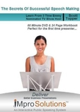 Improve Speaking Skills: Public Speaking Training 24-Page Workbook & DVD