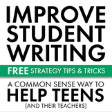 Improve Student Writing, FREE Strategy & Prompts to Sharpen Writing Skills, CCSS