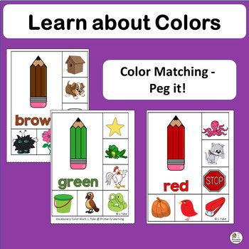 Learn Colors: Match, Read, Print, and Sing Color Activities