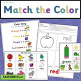 Vocabulary: Kindergarten Color Matching Printable Activities (SASSOON)