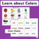 Vocabulary: Color Matching Printable Activities (SASSOON Font)