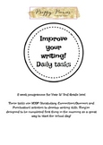 Improve Your Writing! Daily Tasks