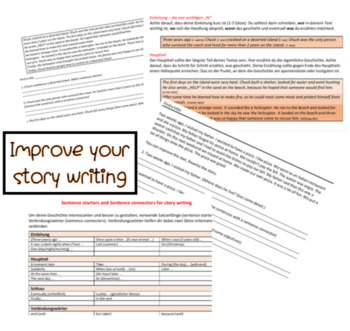 Improve your story writing (ESL GERS A2 - for German natives)