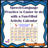Speech-Language Activities Calendar