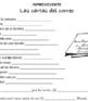 """Improvicuento: """"Las cartas en el correo"""" Novice Spanish Mad Lib activity"""