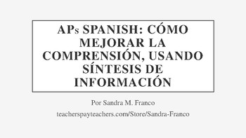 Improving Comprehension Using Synthesis of Information