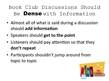 Improving Conversational Density in Book Clubs