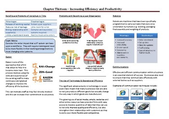 Improving Efficiency and Productivity