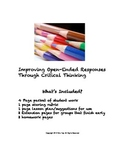 Improving Open-Ended Response through Critical Thinking