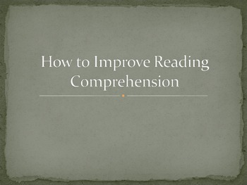 Improving Reading Comprehension for Middle Schoolers