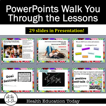 Health Lesson FREE: Improving Self-Esteem Through Positive Self-Talk