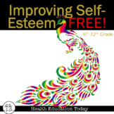 Self-Esteem Health Lesson FREE: Improving Self-Esteem Through Positive Self-Talk