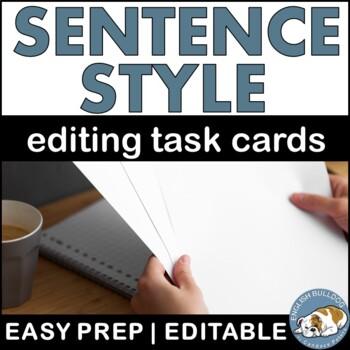 Improving Sentence Style QR Codes Task Cards