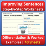 Improving Sentences Writing Worksheets