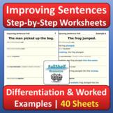 Improving Sentences Writing Worksheets Home Learning