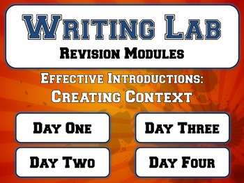 Effective Introductions: Creating Context - Writing Lab Revision Module
