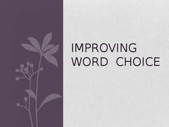 Improving Word Choice